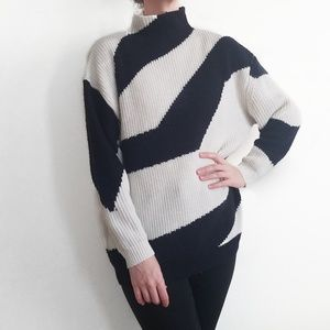 Topshop Chunky Knit Oversize Mock Neck Sweater